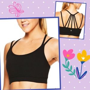 (P) SPORTS BRALETTE▪️Black Strappy Small